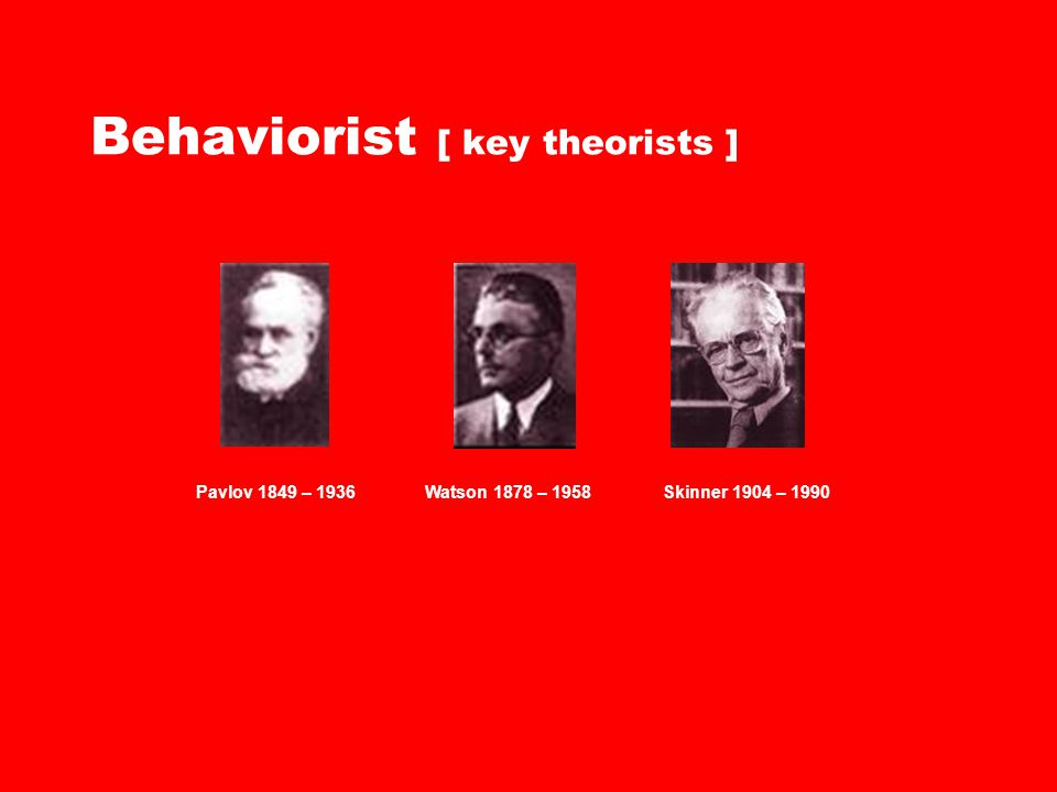 Behaviorist [ key theorists ]